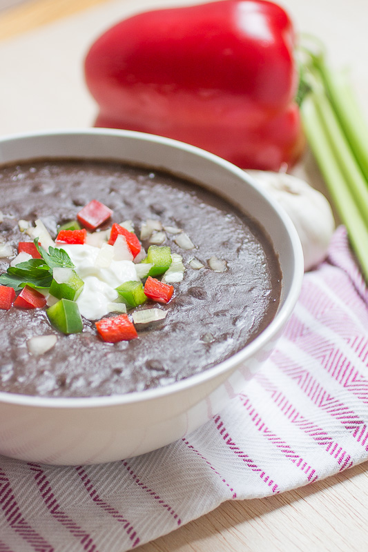 Low Fat Black Bean Soup 13